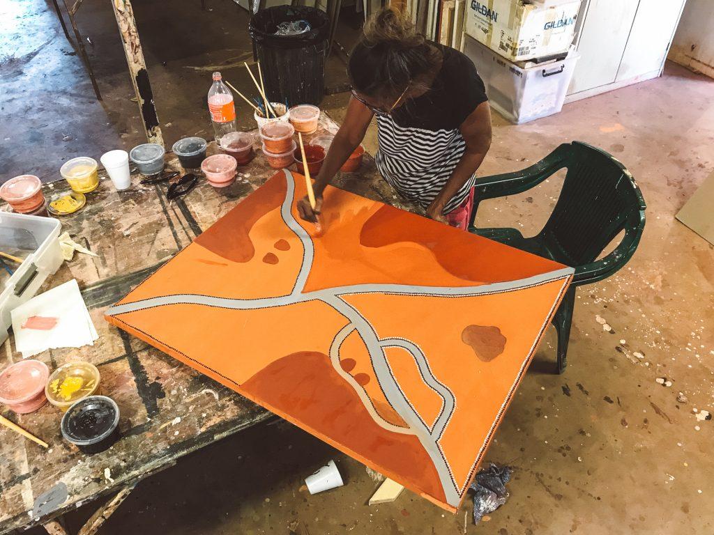Dora Griffiths at Waringarri Arts