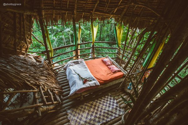 Sleeping in a treehouse in Vanuatu