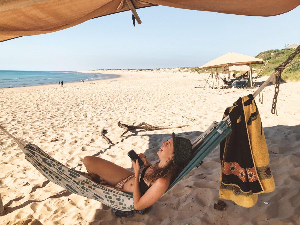 Eco beach resort hammocks